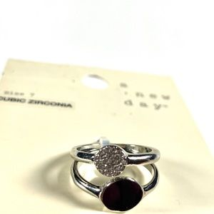A New Day Rings Cubic Zirconia Size 7 NWT